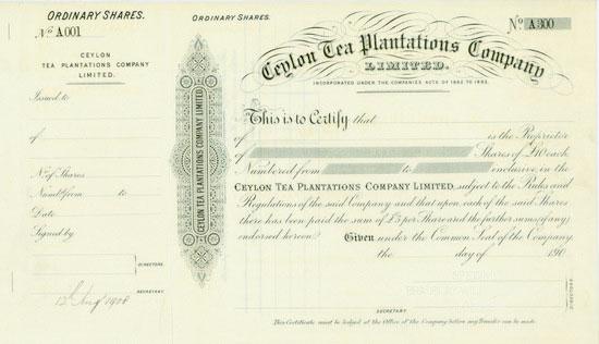 Ceylon Tea Plantations Company, Limited