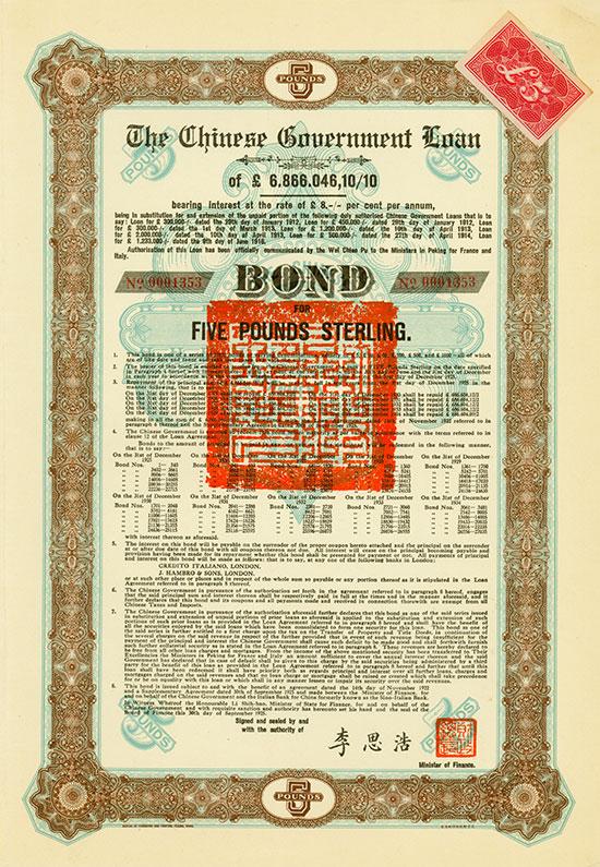 Chinese Government (Skoda Loan II, Kuhlmann 700 D)