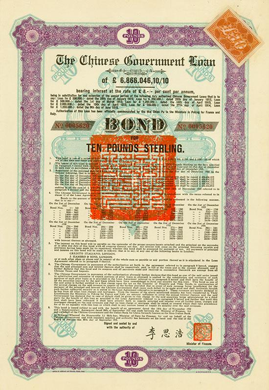 Chinese Government (Skoda Loan II, Kuhlmann 701 E)