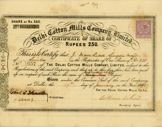Delhi Cotton Mills Company, Limited