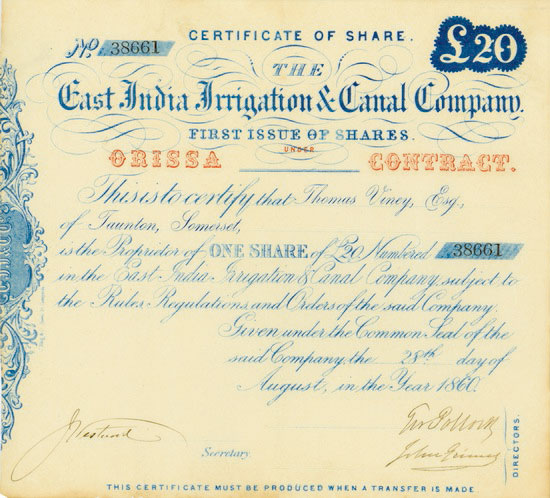 East India Irrigation & Canal Company
