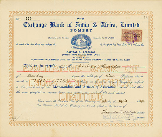 Exchange Bank of India & Africa, Limited