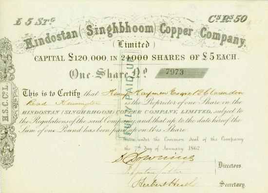 Hindostan (Singhbhoom) Copper Company