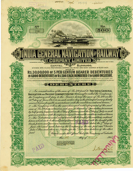 India General Navigation & Railway Company Limited