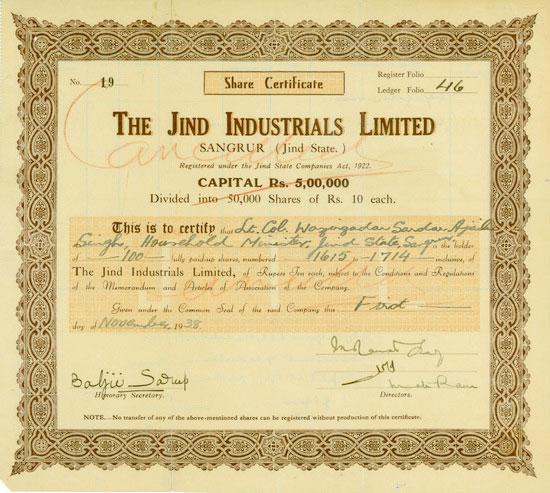 Jind Industrials Limited