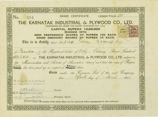 Karnatak Industrial & Plywood Co., Ltd