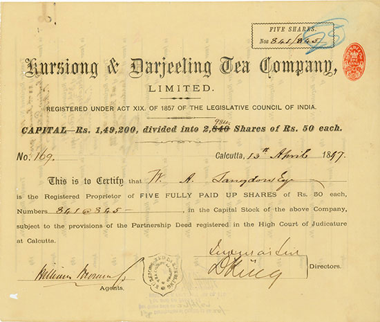 Kursiong & Darjeeling Tea Company, Limited