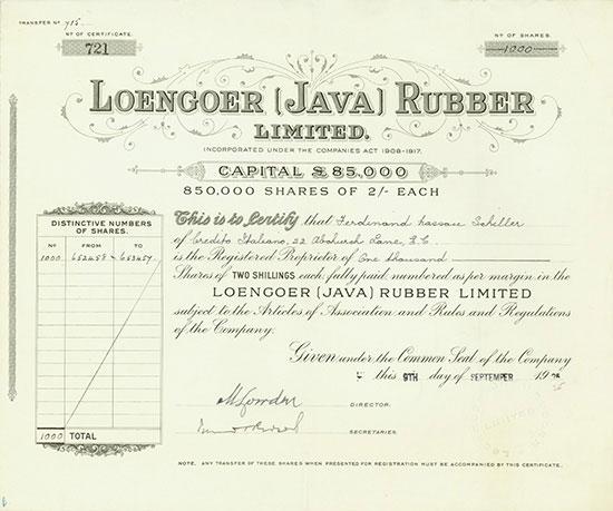 Loengoer (Java) Rubber Limited