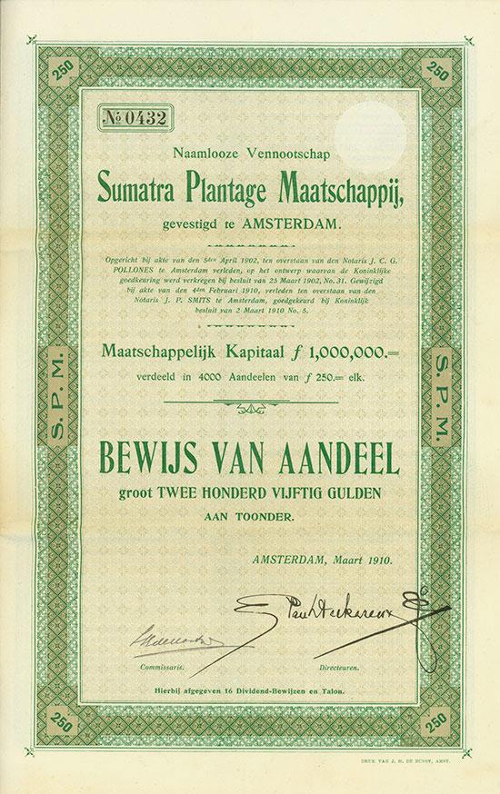 Naamlooze Vennootschap Sumatra Plantage Maatschappij