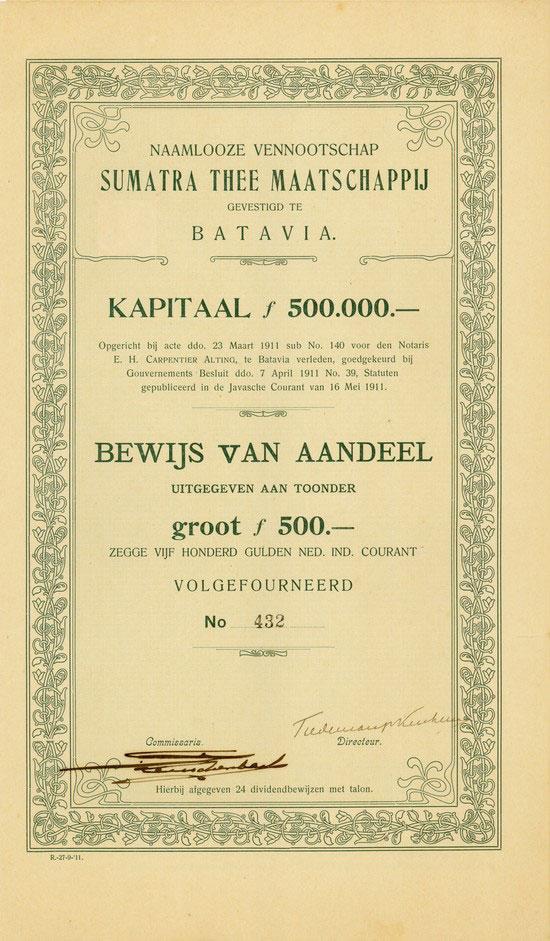 Naamlooze Vennootschap Sumatra Thee Maatschappij