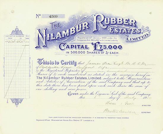 Nilambur Rubber Estates Limited