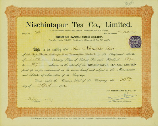 Nischintapur Tea Co., Limited