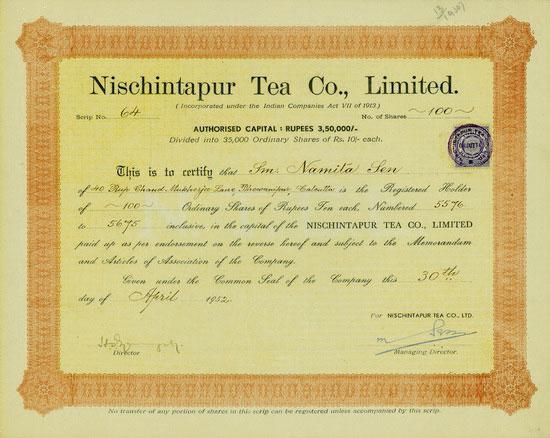 Nischintapur Tea Co., Limited