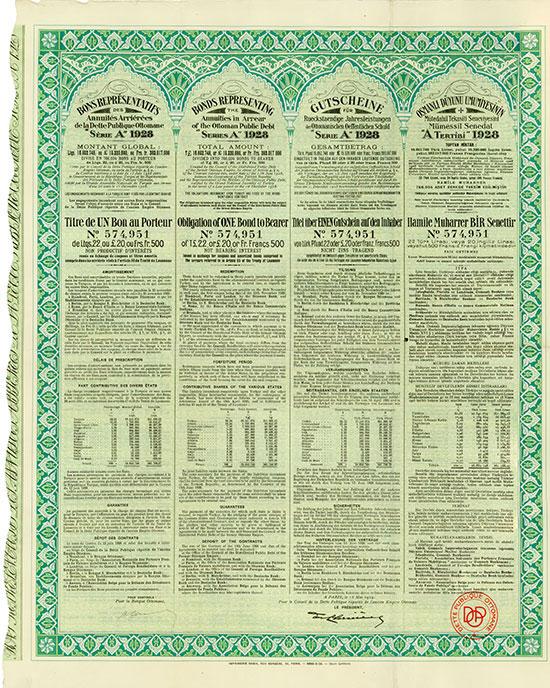 Ottomanische Öffentliche Schuld / Ottoman Public Debt