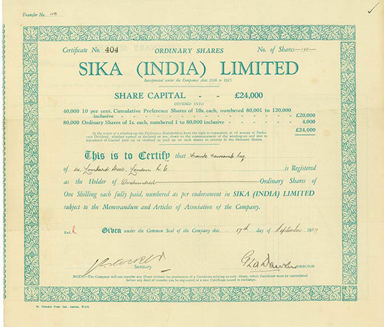 Sika (India) Limited