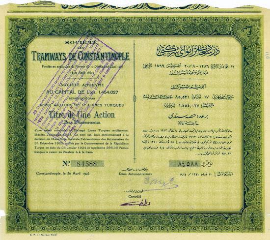 Société des Tramways de Constantinople