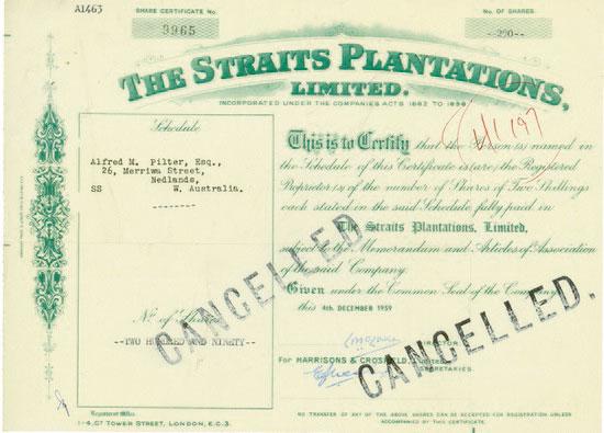 Straits Plantations, Limited