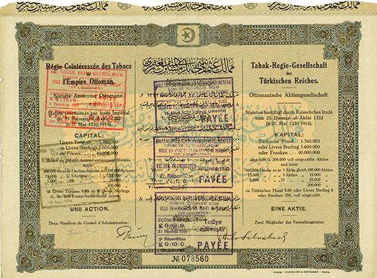 Tabak-Regie-Gesellschaft des Türkischen Reiches Ottomanische AG