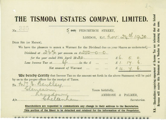 Tismoda Estates Company, Limited