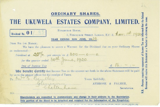 Ukuwela Estates Company, Limited