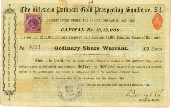 Western Patkoom Gold Prospecting Syndicate, Ld.