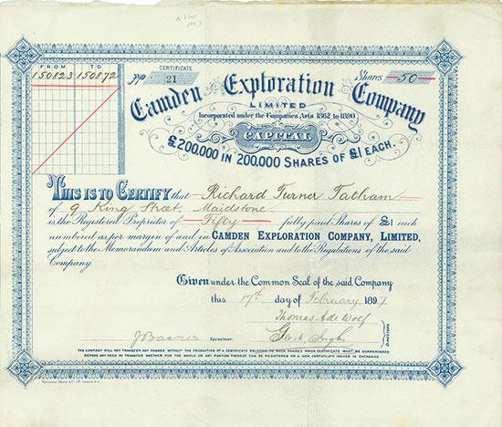 Camden Exploration Company Limited