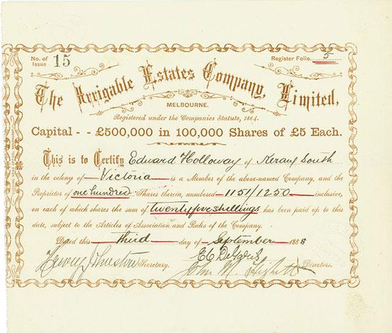 Irrigable Estates Company, Limited