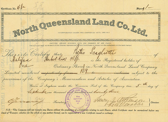 North Queensland Land Co. Ltd.