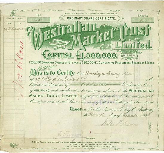 Westralian Market Trust Limited