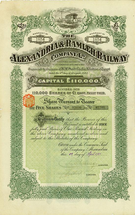 Alexandria & Ramleh Railway Company Ld.