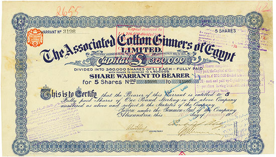 Associated Cotton Ginners of Egypt Limited