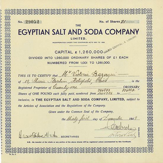 Egpytian Salt and Soda Company Limited