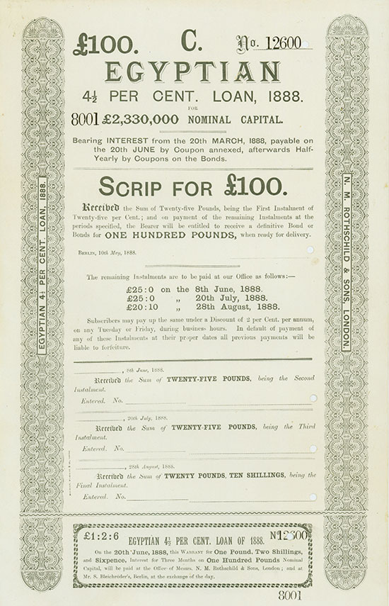 Egyptian 4 1/2 per Cent. Loan of 1888