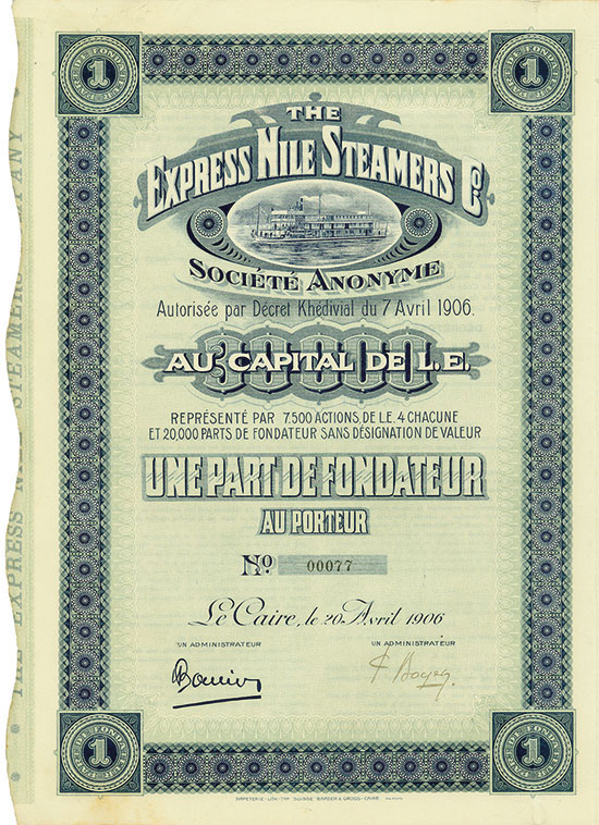 Express Nile Steamers Co. Société Anonyme [2 Stück]