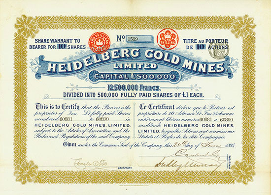 Heidelberg Gold Mines Ltd.