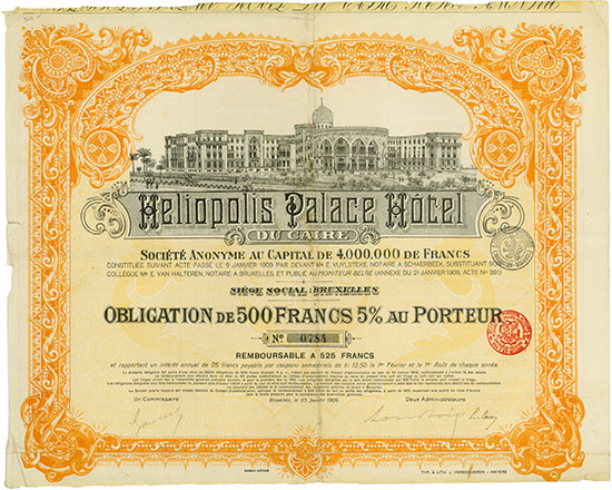 Heliopolis Palace Hotel du Caire