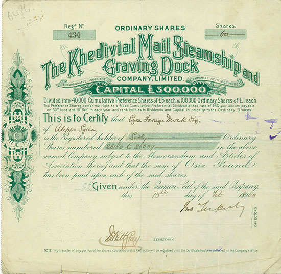 Khedivial Mail Steamship and Graving Dock Company, Limited