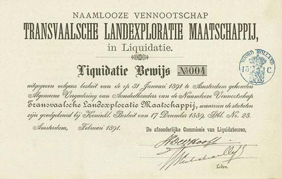Naamlooze Vennootschap Transvaalsche Landexploratie Maatschappij in Liquidatie