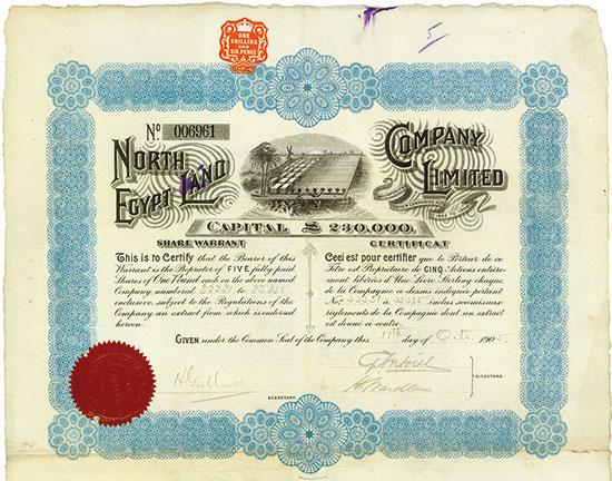 North Egypt Land Company Limited [3 Stück]