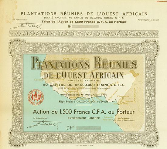 Plantantions Réunies de l'Ouest Africain Société Anonyme