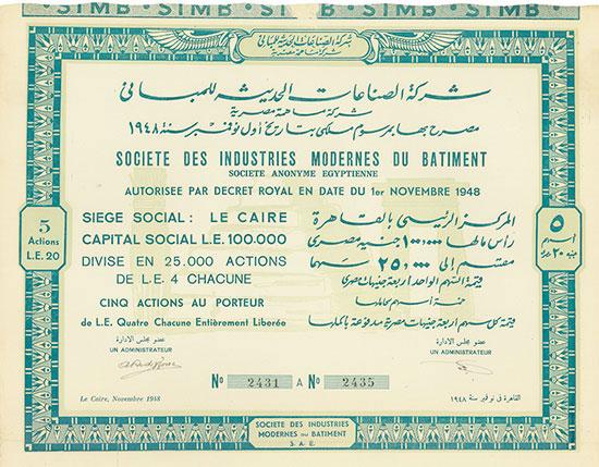 Société des Industries Modernes du Batiment Société Anonyme Egyptienne