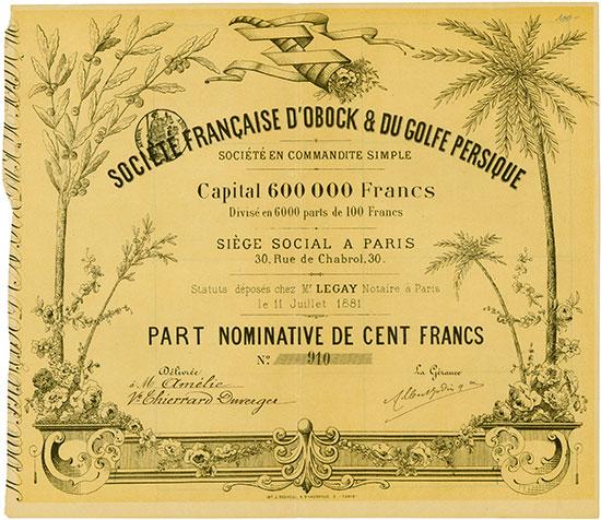 Société Francaise d'Obock & du Golfe Persique