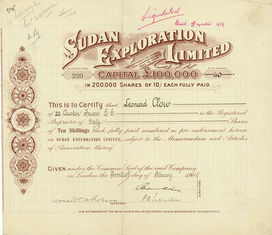 Sudan Exploration Limited