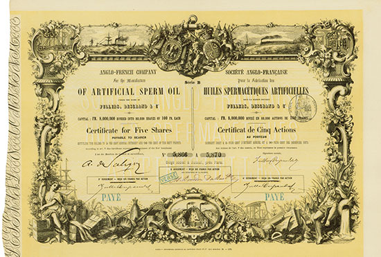 Anglo-French Company for the Manufacture of Artificial Sperm Oil under the Name of Fullers, Desgrand & Co.