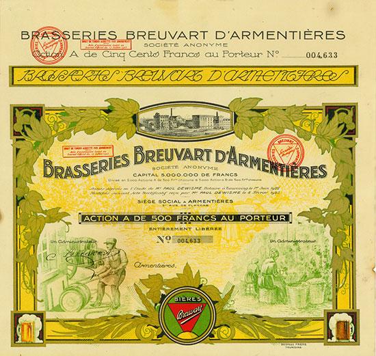 Brasseries Breuvart d'Armentières Société Anonyme