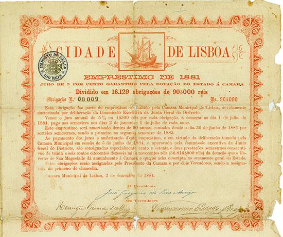 Cidade de Lisboa - Emprestimo de 1881