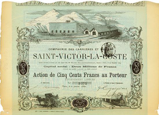 Compagnie des Carrières et Usines de Saint-Victor-La-Coste (Gard)