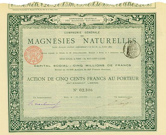 Compagnie Générale des Magnésies Naturelles