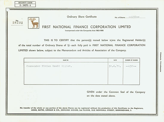 First National Finance Corporation Limited