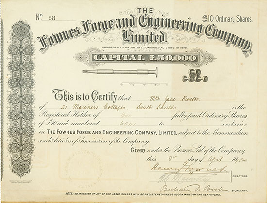 Fownes Forge and Engineering Company, Limited